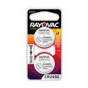 Rayovac Specialty KE CR2450-2 3V Lithium Primary (LiMNO2) Coin Cell Batteries for Keyless Entry - 2 Piece Retail Card