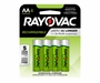 Rayovac Rechargeable LD715-4OPA AA 1350mAh 1.2V Nickel Metal Hydride (NiMH) Button Top Batteries - 4 Piece Retail Card