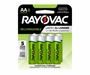 Rayovac Rechargeable LD715-8OPA AA 1350mAh 1.2V Nickel Metal Hydride (NiMH) Button Top Batteries - 8 Piece Retail Card