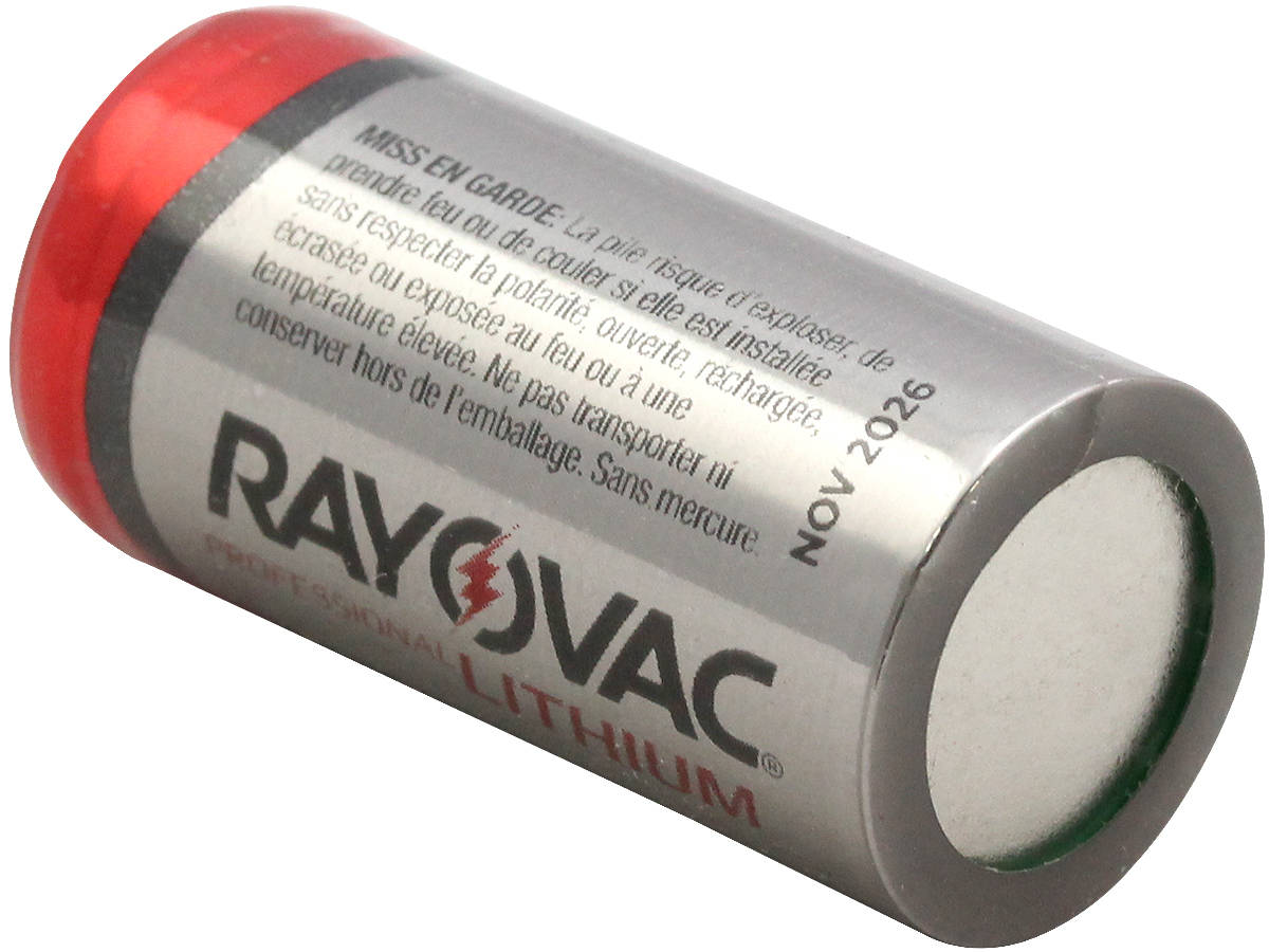Rayovac RLCR123A CR123A 1400mAh 3V Lithium (LiMnO2) Button Top Photo Battery - Bulk