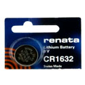 Renata CR1632-TS 125mAh 3V Lithium Primary (LiMNO2)Coin Cell Battery - 1 Piece Tear Strip, Sold Individually