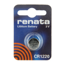 Renata CR1220-CU 38mAh 3V Lithium Primary (LiMNO2) Coin Cell Battery - 1 Piece Small Retail Card