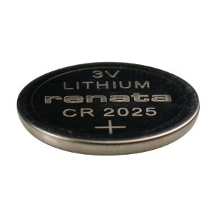Renata CR2025-CU 165mAh 3V Lithium Primary (LiMNO2) Coin Cell Battery - 1 Piece Small Retail Card