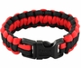 Rescueband Survival Bracelet - Holds Up To 550lbs - Red Outside with Black Inside - 8 or 9 Inch Diameter