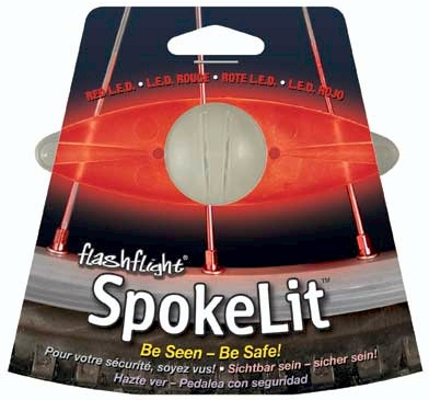 Nite Ize Flashflight Spokelit LED Wheel Light for Bikes - Includes 2 x CR2016s - Disc-o, Red or Green LEDs