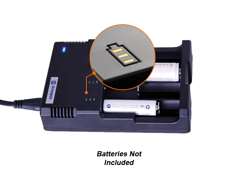 Nitecore Intellicharge i4 4-Channel Smart Battery Charger for Li-Ion, Ni-Cd,& NiMH by Sysmax
