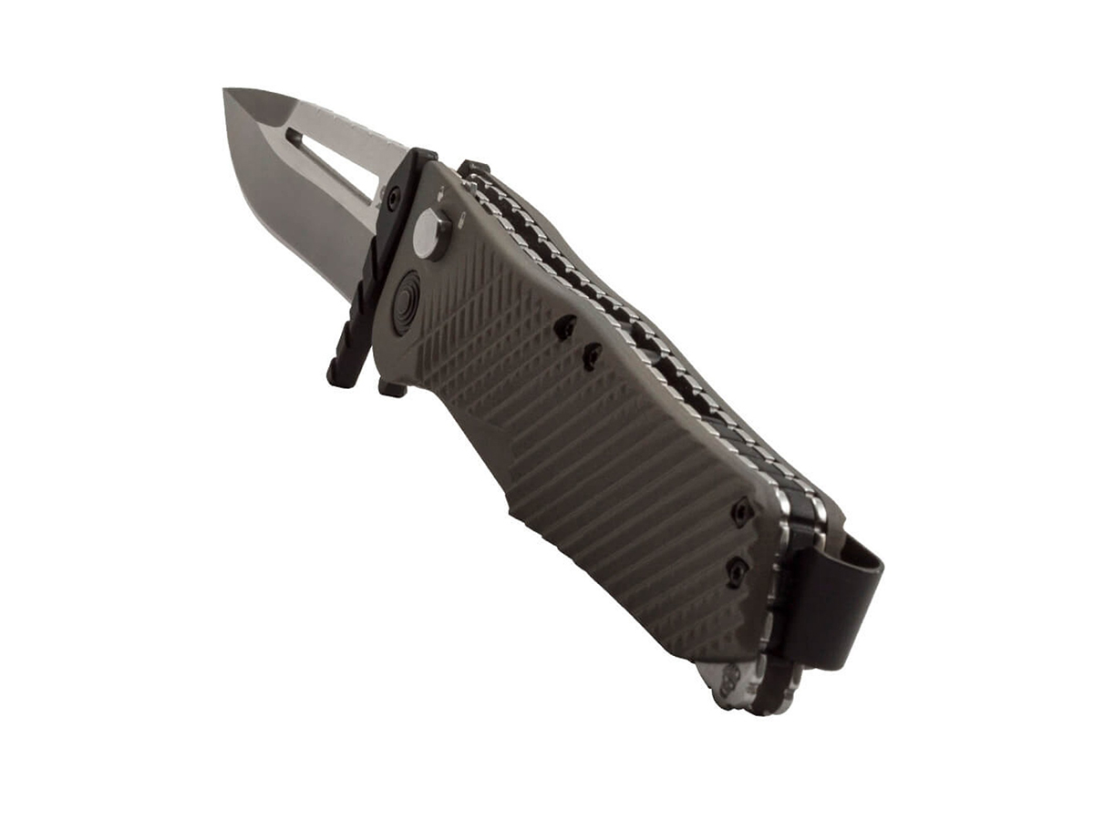 SOG Quake Folding Knife - 3.5-inch Straight Edge, Clip Point - Satin VG-10 Blade - Flat Dark Earth Handle - Boxed (IM1001-BX)