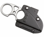SOG Snarl Fixed Blade Knife - 2.3-inch Straight Edge, Sheep's Foot - Satin Finish - Silver Handle - Hard Nylon Sheath - Clam Pack (JB01K-CP)