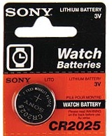 Sony CR2025 160mAh 3V Lithium Primary (LiMNO2) Coin Cell Batteries - 5-Piece Tear Strip