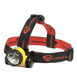 Streamlight Argo Headlamp with Optional Rubber Hard Hat Strap - C4 LED - 150 Lumens - Includes 3 x AAAs (61301)