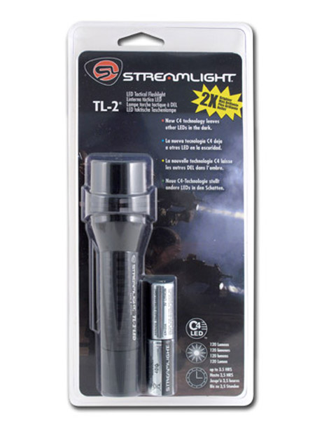 Streamlight TL-2 Tactical Flashlight - C4 LED - 120 Lumens - Includes 2 x CR123As (88305)