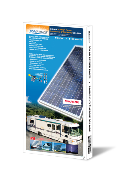 Sunforce 80 Watt Polycrystalline Solar Panel with Sharp Module (39810)