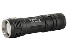 Sunwayman T26C Ultra-Compact Side Switch Tactical Flashlight - CREE XM-L2 U3 LED - 800 Lumens - Uses 1 x 18650, 2 x CR123As/16340s - Champagne, Dark Black or Sky Gray