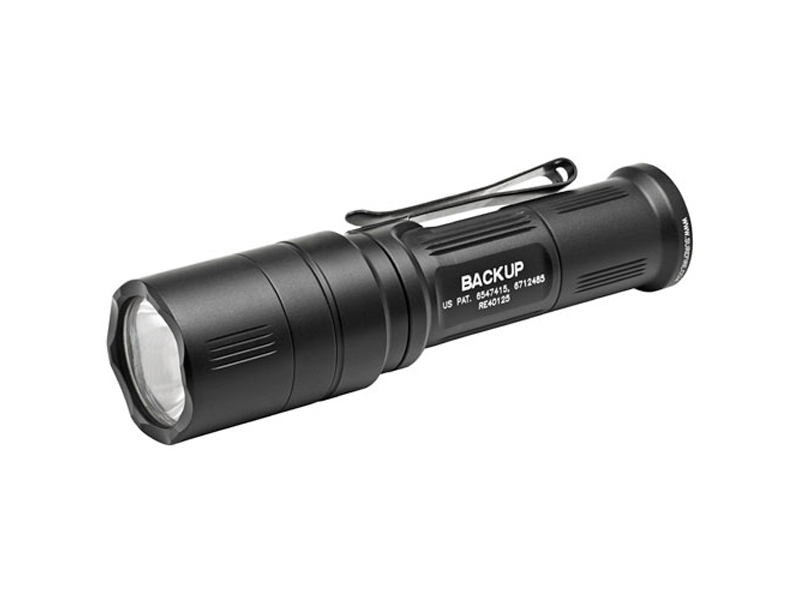 SureFire EB1C Backup Dual-Output LED Flashlight - 200 Lumens - Click Switch with Shroud - Includes 1 x CR123A - Black (EB1C-A-BK)