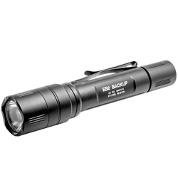 SureFire EB2 Backup LED Flashight - Tactical-type Tailcap Switch - 500 Lumens - Runs on 2x CR123A batteries - Black (EB2T-A-BK)