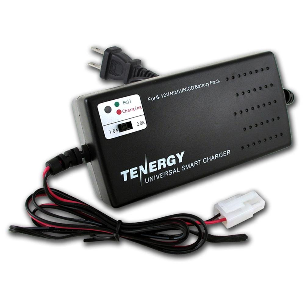Tenergy Smart Universal Battery Pack Charger for NiMH or NiCd Airsoft Battery Packs 6V - 12V (01025)