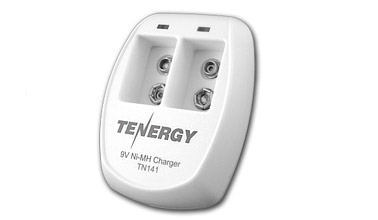 Tenergy TN141 Smart 2-Bay 9V NiMH-NiCd Battery Charger (01141)