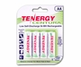 Tenergy Centura LSD 10321 AA 2000mAh 1.2V Nickel Metal Hydride (NiMH) Button Top Batteries - 4 Pack Retail Card