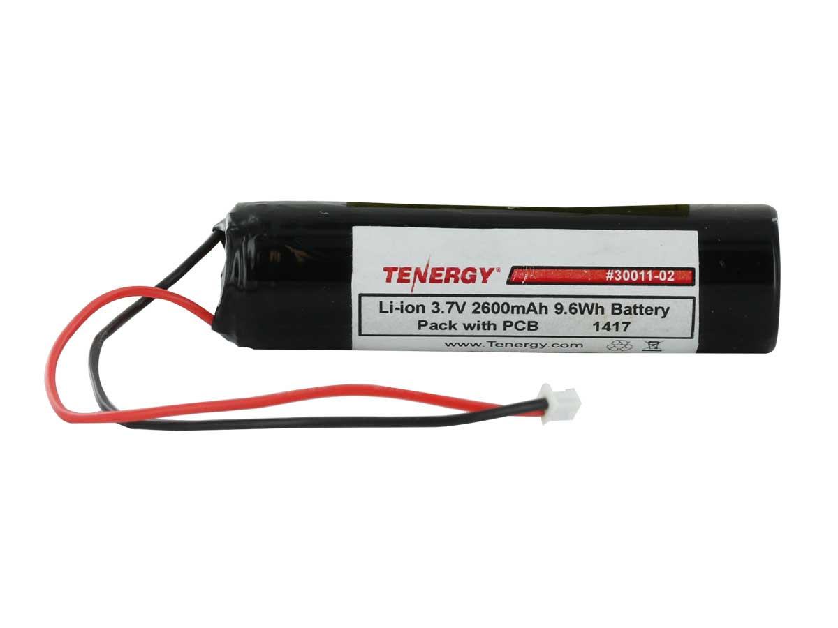 Tenergy 30011-02 18650 2600mAh 3.6V Protected 3.5A Lithium Ion (Li-ion) Battery with Molex Connector