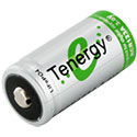 Tenergy 30263 RCR123A / 16340 400mAh 3V Unprotected Lithium Iron Phosphate (LiFePO4) Button Top Battery - Bulk