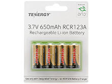 Package Shot of the Tenergy RCR123A Batteries for the Arlo Camera System