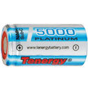 Tenergy 10514 Sub C 5000mAh 1.2V High-Drain 40A Nickel Metal Hydride (NiMH) Flat Top Battery with or without Tabs - Bulk