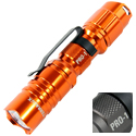TerraLUX / Lightstar Corp. Pro-1 Series LED Flashlight - CREE XP-E LED - 154 Lumens - Uses 1 x AA - Titanium Grey or Orange