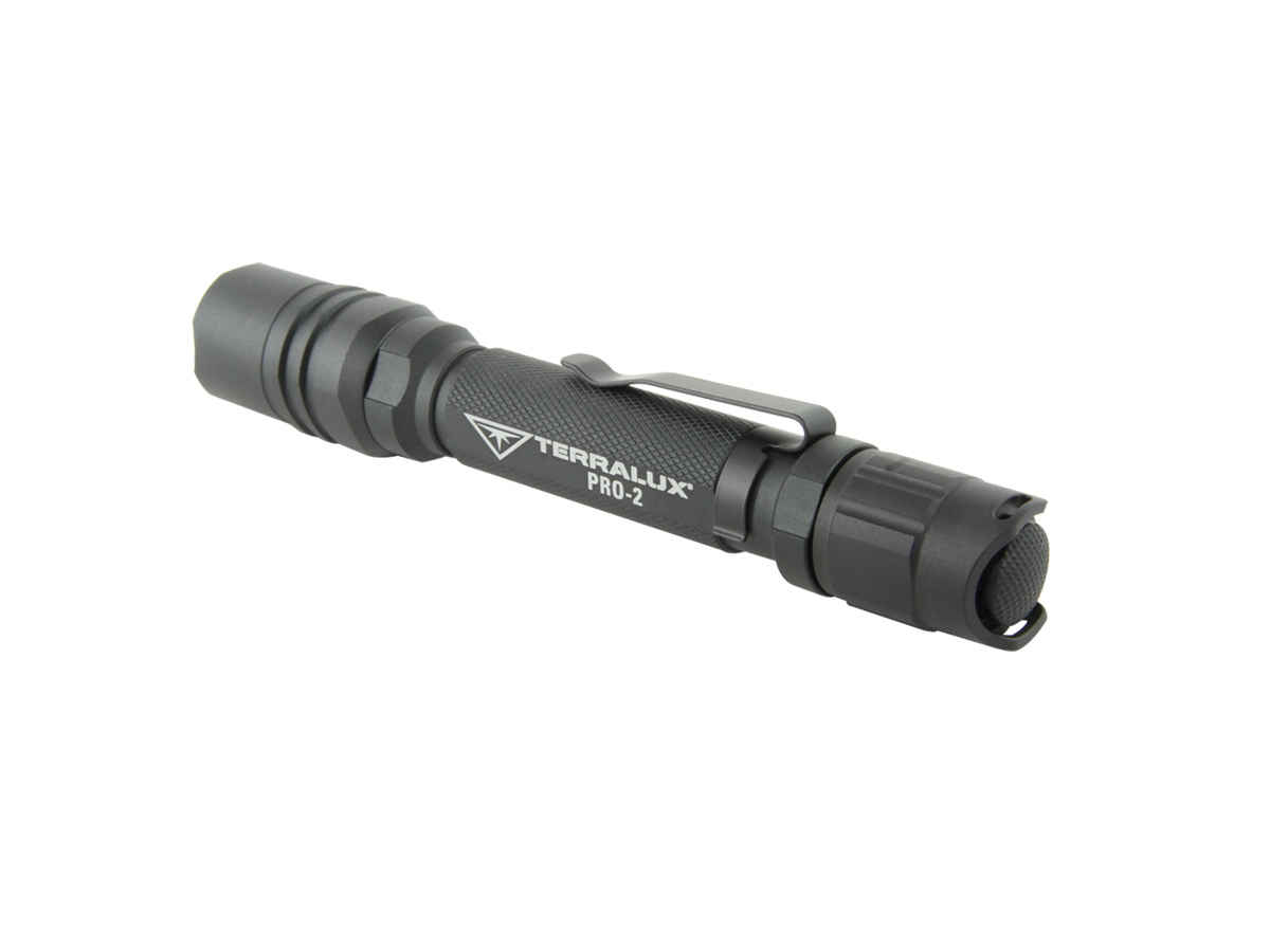 TerraLUX / Lightstar Corp. Pro-2 Series LED Flashlight - 225 Lumens - Runs on 2x AA batteries - Black