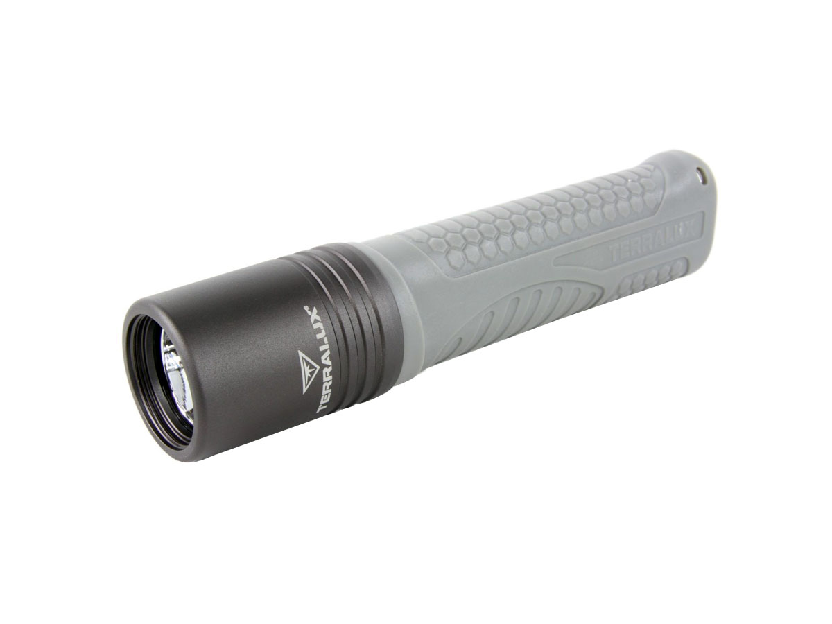 TerraLUX / Lightstar Corp. Colorado LED Flashlight - 500 Lumens - Runs on 4x AA Batteries - Black/Gray