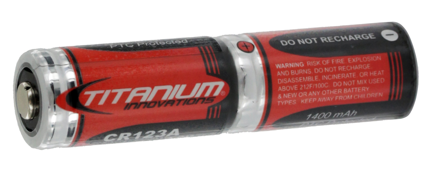 Titanium CR123A 2 Pack Shrink