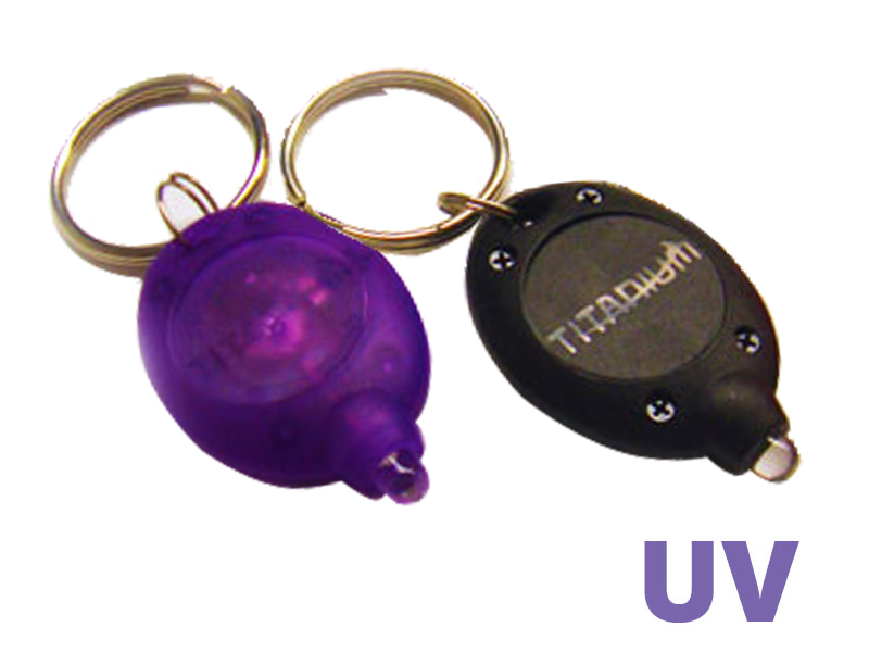Titanium Innovations KEYLIGHT Keychain LED Ultraviolet  Light  395nm UV