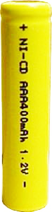 AAA NiCad Button Top Rechargeable Battery 400 mAh (R1ED-GAAA400-B)