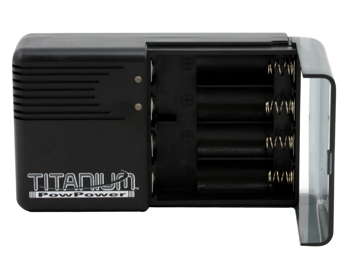 Titanium Innovations V4000 4-Bay Ultra Fast Battery Charger - NiMH, NiCd AA and AAAs - AC 100-240V Adapter