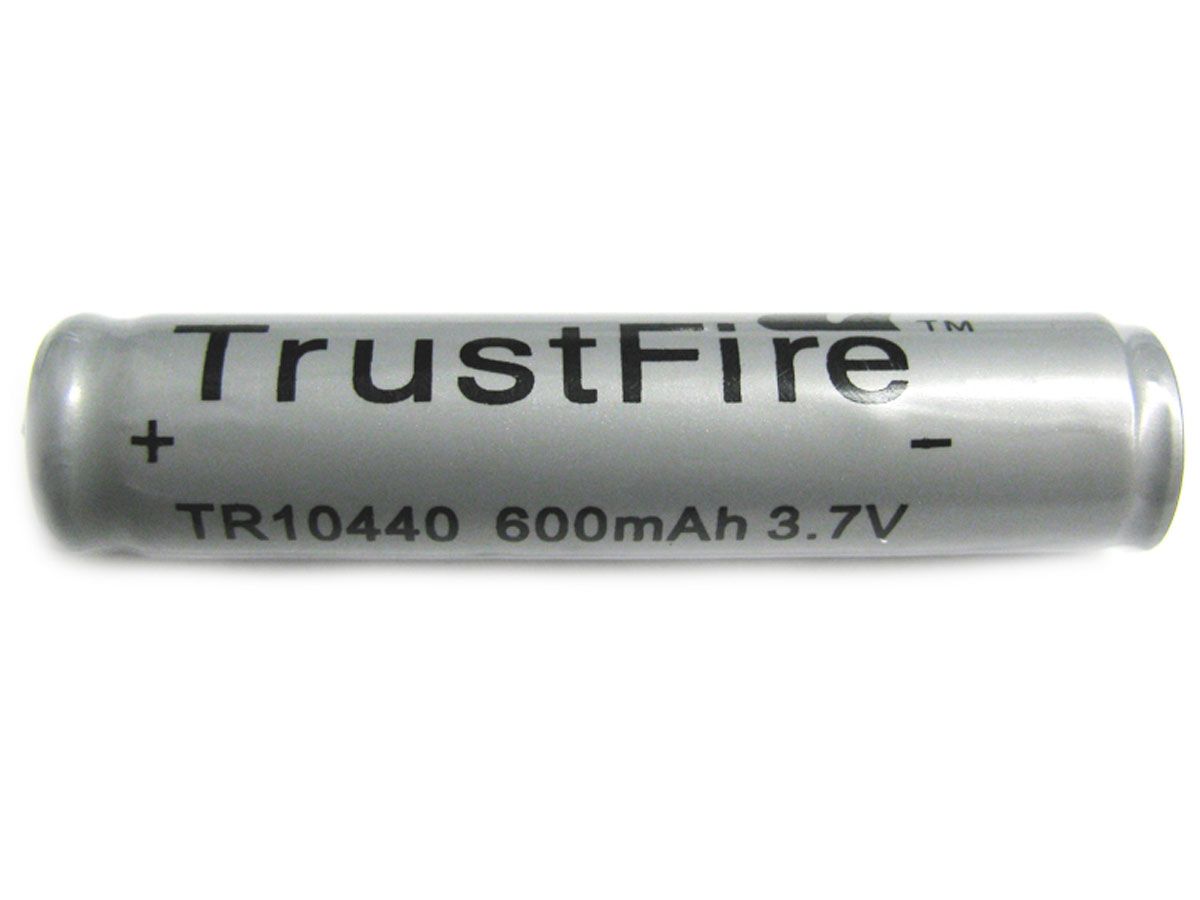 TrustFire TR 10440 600mAh 3.7V Protected Lithium Ion (Li-ion) Button Top Battery - Bulk