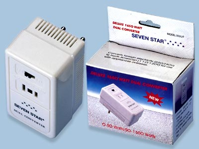 Seven Star Travel World Wide Hi/Lo 50-1650W  Converter SS207