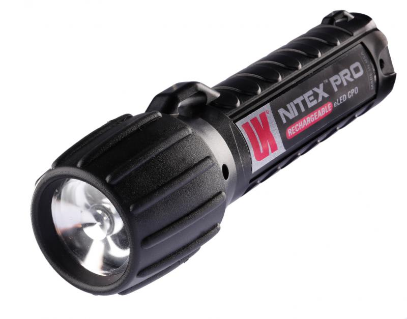 Underwater Kinetics Nitex Pro eLED 12322 Rechargeable Flashlight - 90 Lumens - Uses 2 x CR123As or 1 x 18650 (Included) - Black