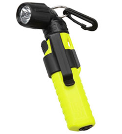 Underwater Kinetics 4AA Xenon Right Angle Light - 83 Lumens - Safety Yellow - Runs on 4x AA Batteries (Batteries included)