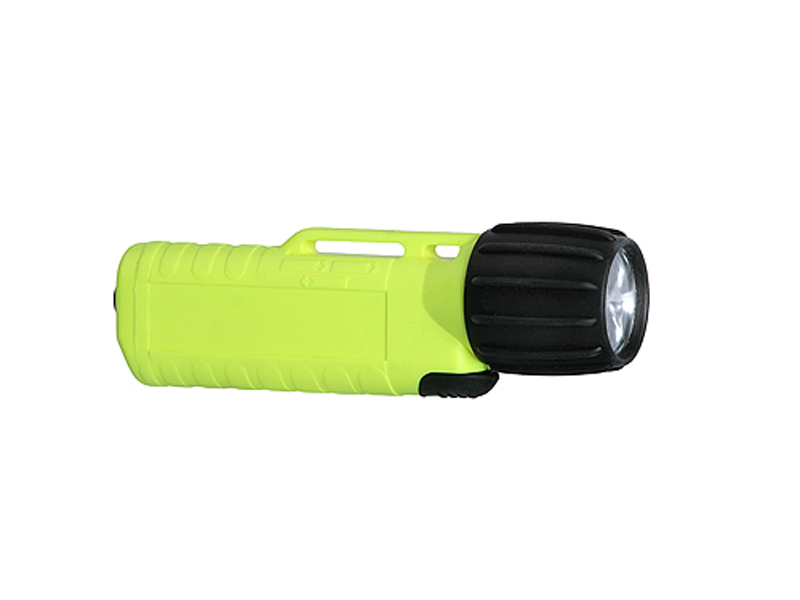 Underwater Kinetics UK4AA eLED CPO-AS 14439 Flashlight with Front Switch - 120 Lumens - Class I Div 1 - Uses 4 x AAs - Safety Yellow