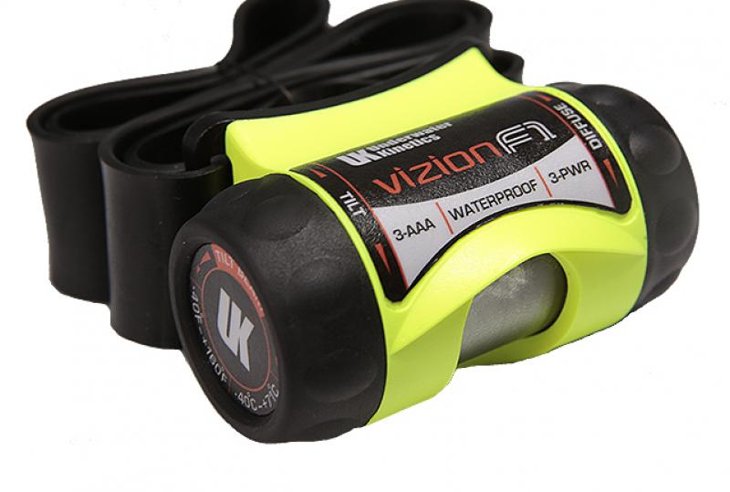 Underwater Kinetics 3AAA eLED Vizion Z3 Headlamp with Choice of Strap - 210 Lumens - Class I Div 1 - Uses 3 x AAAs - Black or Safety Yellow
