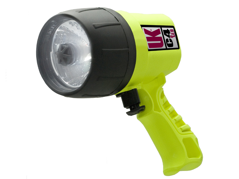 Underwater Kinetics C4 eLED 19050 Handheld Dive Light - 275 Lumens - Uses 4 x C Cells - Safety Yellow