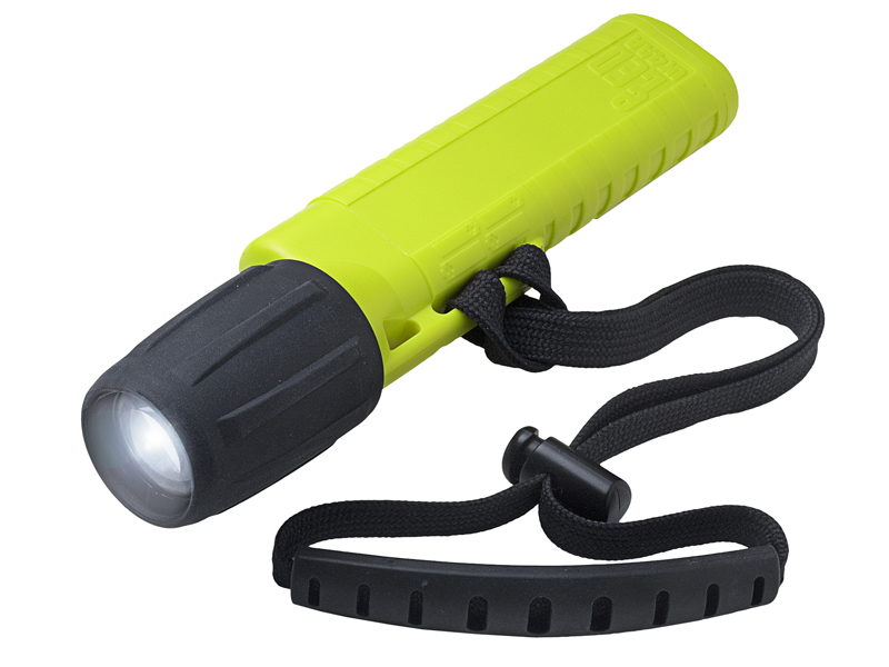 Underwater Kinetics Mini Q40 eLED Plus Dive Light with Mask Strap - 77 Lumens - Includes 4 x AAs - Black, Blue, Glow or Yellow