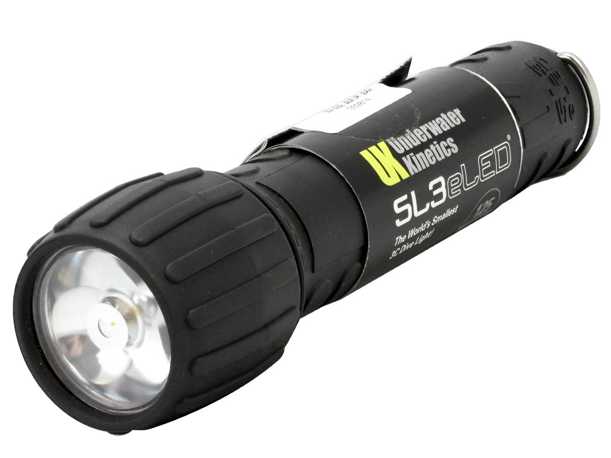 Underwater Kinetics SL3 (L1) eLED Dive Light - 125 Lumens - Includes 3 x C Cells - Safety Yellow or Black