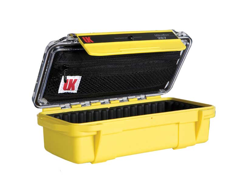 Underwater Kinetics Weatherproof 207 UltraBox - Yellow with Clear View Lid - Empty or Padded Liner (08351 08361)