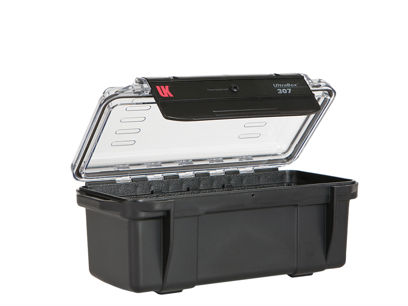 Underwater Kinetics Weatherproof 307 UltraBox - Black with Clear View Lid - Empty or Padded Liner (08454 08464)