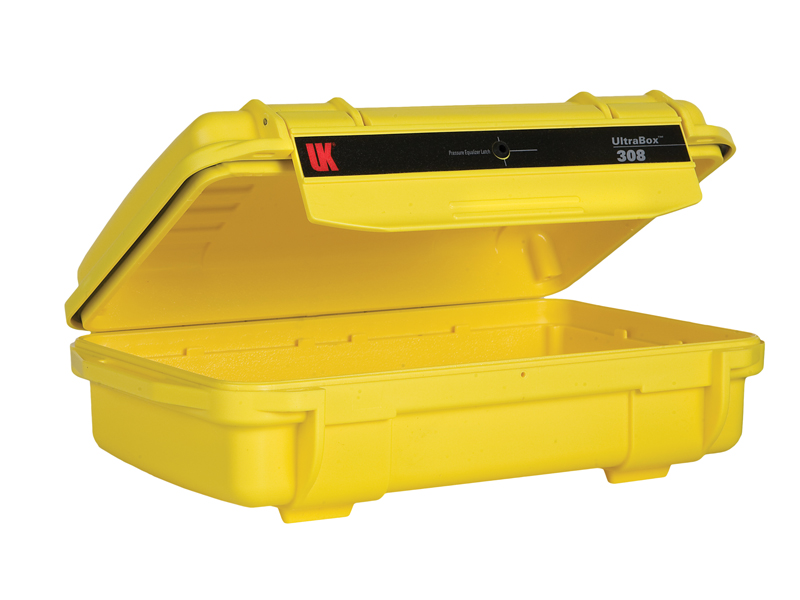 Underwater Kinetics Weatherproof 308 UltraBox - Yellow - Empty or Padded Liner (08501 08511)