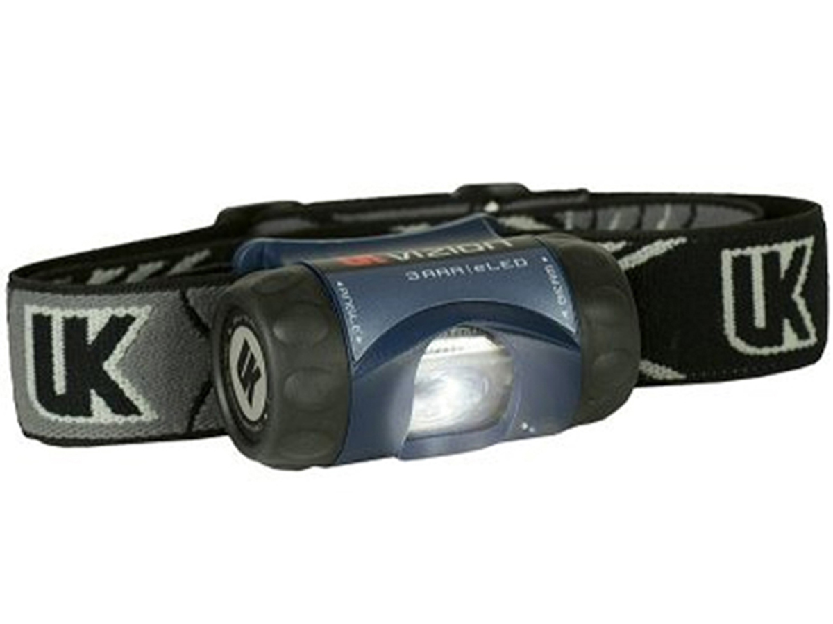 Underwater Kinetics 3AAA eLED Vizion I Headlamp with Woven Strap - 65 Lumens - Class I Div 1 - Uses 3 x AAAs - Black or Safety Yellow