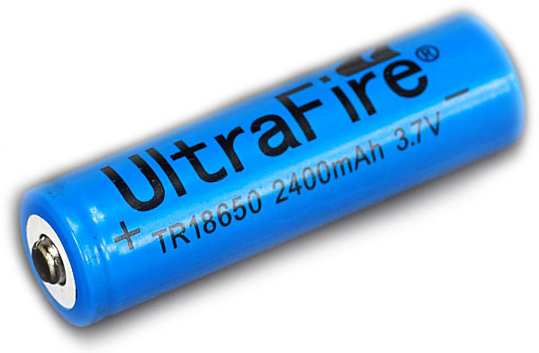 UltraFire TR 18650 2400mAh 3.7V Unprotected Lithium Ion (Li-ion) Button Top Battery - Bulk