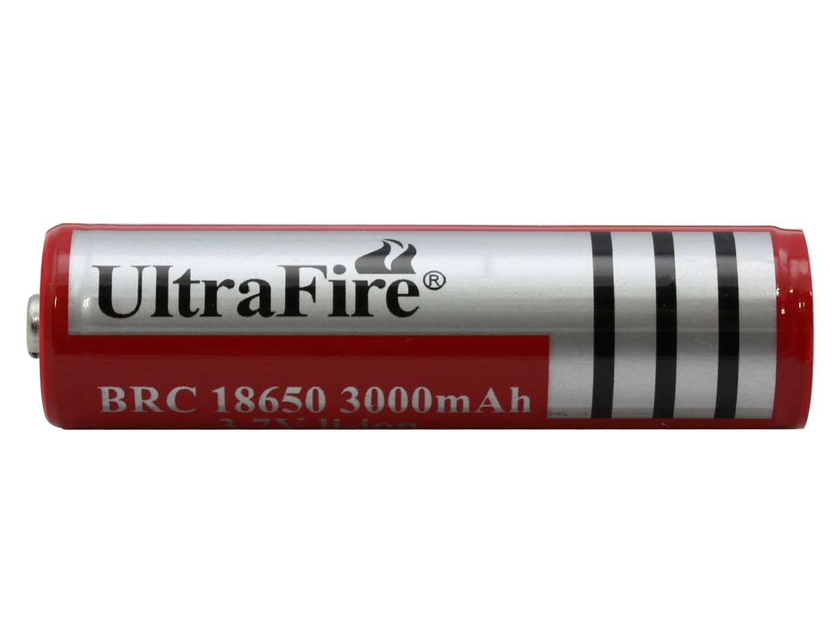 UltraFire FLB 18650 3000mAh 3.7V High-Capacity Protected Lithium Ion (Li-ion) Button Top Battery - Bulk