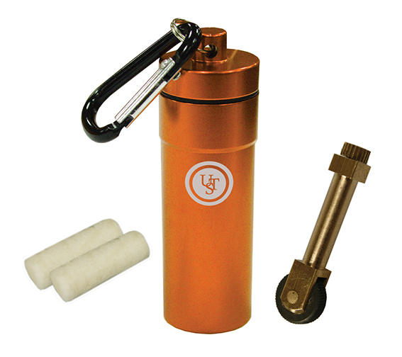 Ultimate Survival Technologies Stoke Kit / Fire Starter - Includes Flints and Tinder Pieces - Orange (20-02031-02)