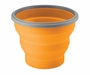 Ultimate Survival Technologies FlexWare Bowl 2.0 - Heat-Resistant Silicone - 4 x 5-inch Collapsible Dish - Orange (20-02077-08)